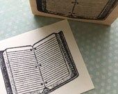 Open Notebook  Rubber Stamp