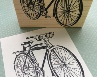 Vintage Bike Rubber Stamp 6482