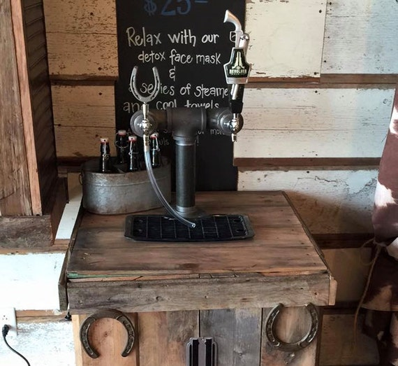 Custom 2 Tap Black Iron Draft System Tapped Beer Towers Home