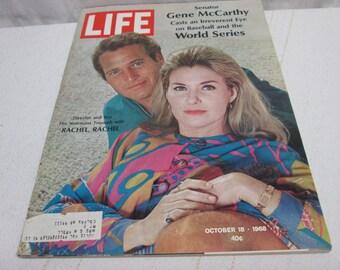Life Magazine October 1968, Newman, Bikini Island, Mercury Cougar, Coca Cola, Coke, Schick Razors, Vintage ads