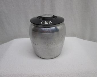 Kromex tea canister