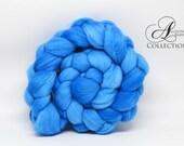 Merino Wool Top for Spinning or Felting Peacock