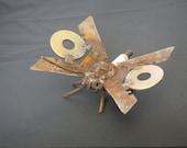 Found metal butterfly sculpture