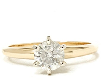 Diamond Solitaire Engagement Ring, 1.50ct, Yellow Gold Solitaire Diamond Engagement Ring, 14K Yellow Gold 1.50 Carat 6 Prong Solitaire Ring