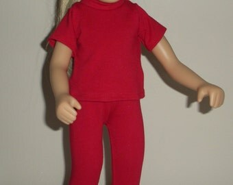 Fits 16 Inch Sasha Doll .... Red 2 Piece Leggings Outfit ... D083
