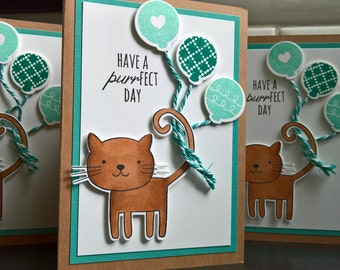 Cat Birthday Card, Kitty Card, Cat Lover Card, Cat Card, Cat Greeting Card, Kitty Birthday Card