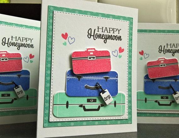 Wedding Card, Honeymoon Gift, Happy Honeymoon Card, Bon Voyage Card ...