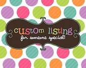 Custom Cut Listing for Marty Klopfenstein