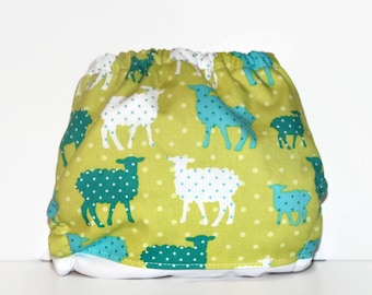 SALE One Size Pocket Cloth Diaper Counting Sheep, Reusable Cloth Diaper, One Size Cloth Nappy, One Size Diaper, Pocket Cloth Diaper
