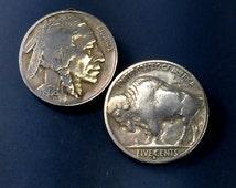 USA nickel brooch - buffalo head coin jewelry - United States souvenier badge No.00502
