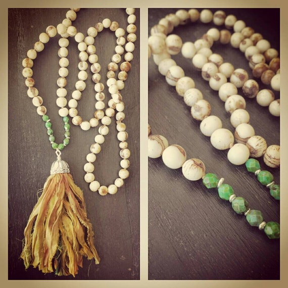 Boho Chic Silk Tassel Necklace