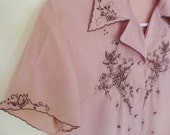Vintage Chinese Silk Embroidered Blouse