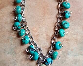 Beautiful Turquoise Slave Bracelet/Bohemian Style