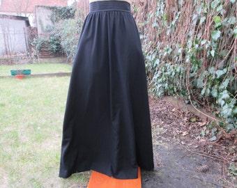 Long Black Skirt / Skirt Vintage / Maxi Skirt / Wool Skirt / Woolen Skirt / Size EUR38 / UK10 / Lining