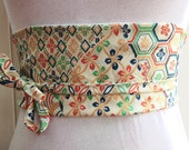 Vintage kimono fabric obi belt **free shipping**