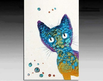 Original Pet Painting  on Canvas 6x4 inches. Painting will come with mat.