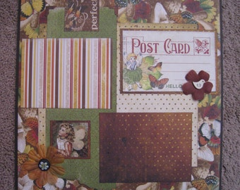 Scrapbook Layout Enchanted Forest - 12 x 12 - Double Page