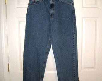 Vintage LEVI'S 550 Relaxed Fit Men's Blue Jeans / 5 Pockets / Size 36 X 33.5 / Orange Tab / Made In Usa / 40550 0213