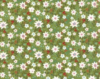 Juniper Berry Merrily in Elf Green, BasicGrey, 100% Cotton, Moda Fabrics, 30432 14