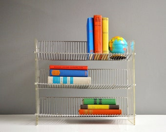 Vintage Metal and Lucite Store Display Shelf