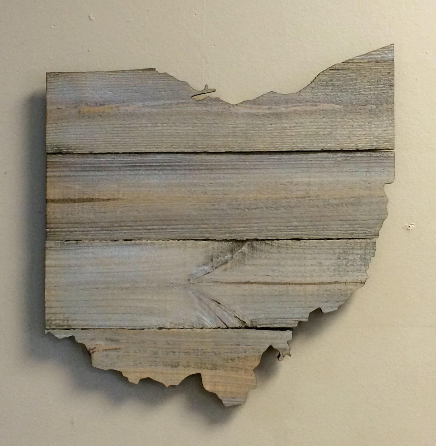 Ohio Wood State Shape Cutout 15 1 2 X 16 Laser