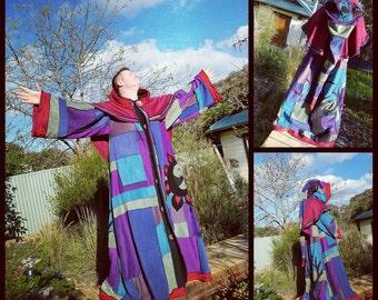 custom made patchwork monks robe....