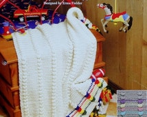 20%OFF The Needlecraft Shop CRAYON PUFFS By Erma Fielder - Crochet Afghan Collector's Series Pattern