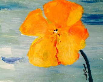 Orange Poppy // Poppy // Poppy painting