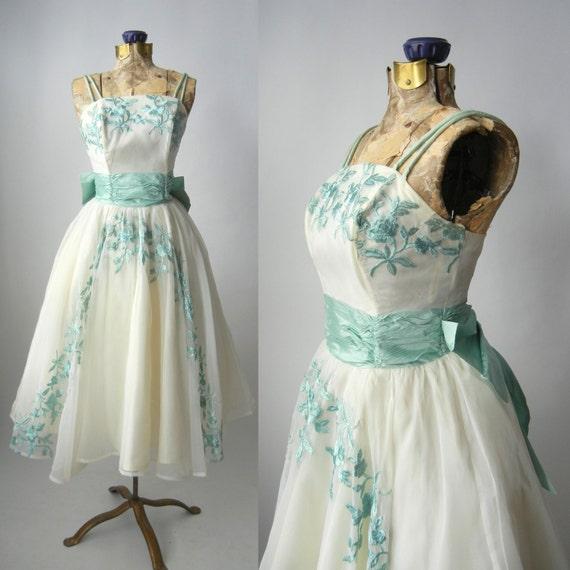 Vintage Dress 1950s Dr...