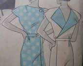 Fabulous Vintage 30's Misses' ANN DVORAK FROCK Hollywood Pattern