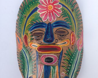 Vintage Mexican Clay Mask