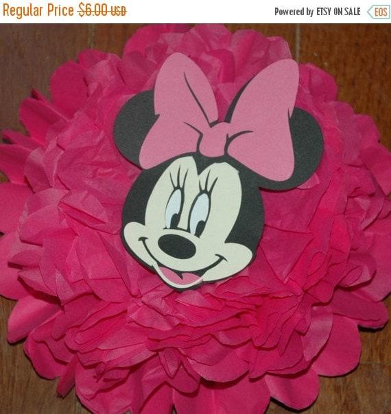 FLASH SALE Disney Minnie Mouse - tissue pom pom - Birthday/ Shower decoration