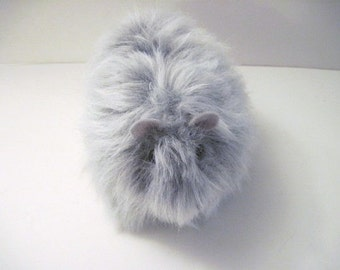 Guinea Pig Handmade Plush Toy Gray
