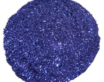 Purple SOLVENT RESISTANT GLITTER 0.015 Hex - 1 Fl. Ounce for Glitter Nail Art , Glitter Nail Polish and Glitter Crafts