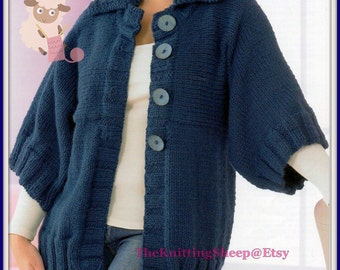 PDF Knitting Pattern For Edge To Edge Jacket by TheKnittingSheep