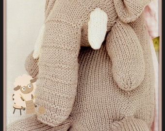 PDF Knitting Pattern for Giant Elephant Toy - Instant Download
