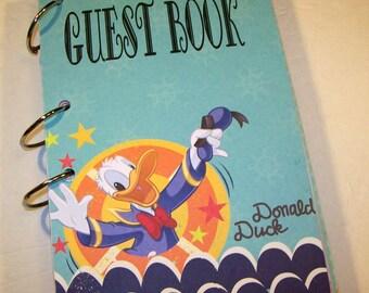 Birthday Guest Book, Donald Duck Birthday, Guest Book,  Donald Duck Party Sign in Book Party Autograph Book,  1st Birthday