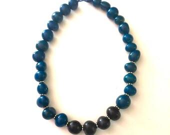 Bombona Seeds Necklace - Boho - Bohemian- Eco-Friendly, Statement Necklace