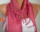 Amaranth Pashmina Scarf Teacher Gift Cotton Scarf Cowl Gift Ideas For Her Women Fashion Accessories