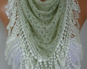Almond Knitted Lace Scarf Shawl Cowl Oversized Bridesmaid Bridal Accessories Gift Ideas For Her Women Fashion Accessories Mother Day Gift