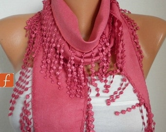 Amaranth Pashmina Scarf Teacher Gift Cotton Scarf Cowl Gift Ideas For Her Women Fashion Accessories
