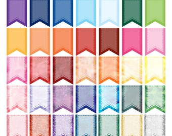Flag Banner Clipart, Ribbon Banner  Clip Art, Simple Flags, Commercial Use Clipart, Banner Images
