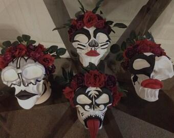 KISS Dia De Los Muertos Skulls Sculptures