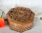 Large jewelry box Wooden box Ring box Carved wood box Wedding gifts Jewellery boxs Wood boxes Jewelry boxes Wooden boxes Wood carving B18