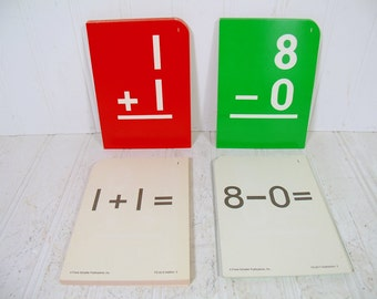 Frank Schaffer Arithmetic Flash Cards Sets - 133 Vintage Math Cards - Colorful Addition, Subtraction, Multiplication & Division Flash Cards
