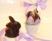 Creek House Solid Chocolate Easter Bunnies Dark (Organic & Vegan), or Milk Chocolate (With Dairy)