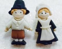 Thanksgiving Earrings,  Pilgrim Earrings, Mr and Mrs Earrings, Thanksgiving Character Earrings, Harvest Earrings, Giving Thanks Earrings