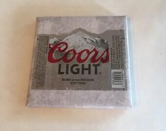 Beer Label Ceramic Coaster