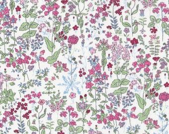 "Liberty Tana Lawn fabric FIELD FLOWERS - 17"" wide x 13"" (43cm x 33cm) - pink"