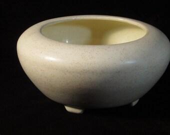 Vintage 1950's Cream Colored Stoneware Matte Gloss Glazed Ceramic Planter